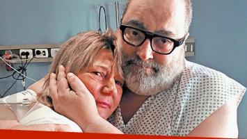 Jorge Lanata y Nora, la mujer que le donó su riñón (Foto: Clarín).