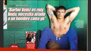 Martín Amestoy volvió a piropear a Bárbara Vélez. (Foto: revista Paparazzi)