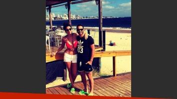 Ivana Nadal y el Pollo Álvarez, enamorados en Punta del Este. (Foto: Instagram)