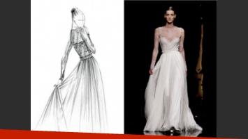 El vestido de novia de Zaira Nara. (Foto: Web)