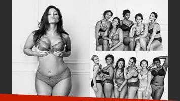La campaña I m no angel con mujeres normales. (Fotos: Campaña Lara Bryant)