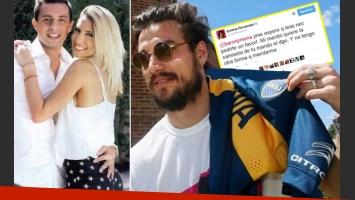Tras el mangazo de Cinthia Fernández, Daniel Osvaldo le regaló su camiseta a Defederico. (Fotos: Web)
