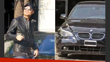 El choque al BMW de Marcelo Tinelli (Foto: Pronto y Web)