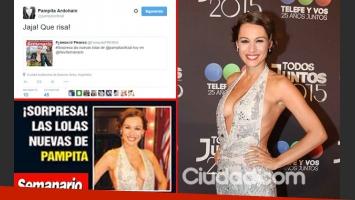 Pampita y su divertida reacción twittera. (Foto: Web y Ciudad.com)