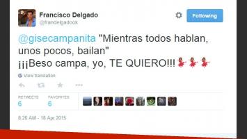 Francisco Delgado le habló a Gisela Bernal por Twitter (Foto: Twitter)
