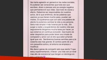 Silvina Luna reflexionó sobre el uso de las redes sociales (Foto: Instagram)
