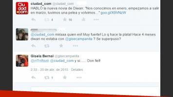 Gisela Bernal, tras el nuevo noviazgo de Diwan (Foto: Twitter)