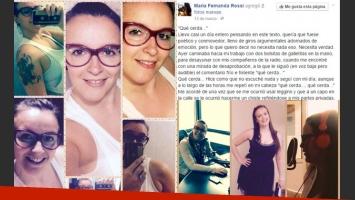 El texto de María Fernanda Rossi se viralizó rápidamente en la Web (Fotos: Twitter).