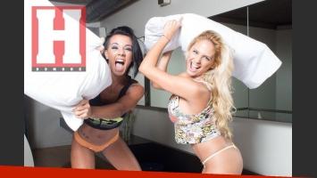 Carolina Pagano y Melanie Defederico, súper sensuales para la revista Hombre. (Foto: revista Hombre)