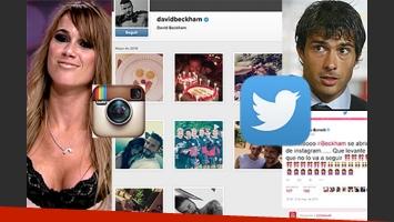 Chechu Bonelli y el divertido cruce con Darío Cvitanich por David Beckham. (Fotos: Web, Instagram y Twitter)