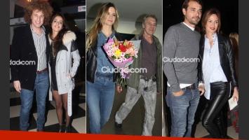 Rulo y Gabriela Sari; Pedro y Paula; Miguel Ángel Solá y su joven novia. (Fotos: Movilpress)