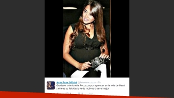 Antonella Roccuzzo lució su pancita de cuatro meses. (Foto: Twitter)