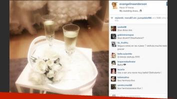 Evangelina Anderson y una foto muy especial sobre su boda (Fotos: Instagram).