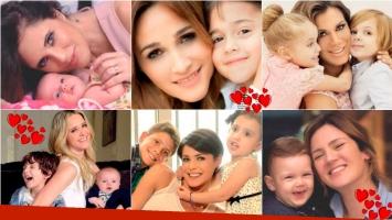 Las famosas posaron para Gente en el Día de la Madre. Foto: Gente