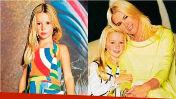 Taína, la hija de Valeria Mazza debutó como modelo. Foto: Revista ¡Hola! Argentina