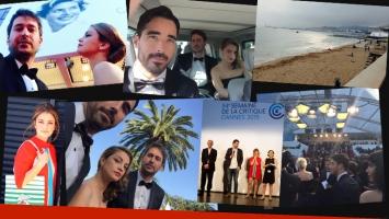 Nacho Viale, Dolores Fonzi y Santiago Mitre: su álbum de fotos en Cannes. (Foto: Twitter)