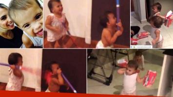 Las gemelas de Cinthia Fernández y sus divertidos videos. (Foto: Instagram)