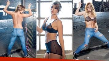 Jésica Cirio, en una producción sexy  (Foto: Revista Gente)