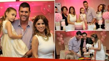 El cumpleaños de Mía, la hija de Marina Calabró y Martín Virasoro. (Foto: gentileza Molina Estudio)