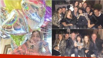 Verónica Lozano festejó sus 45 años con una cena íntima con amigos. Foto: Twitter