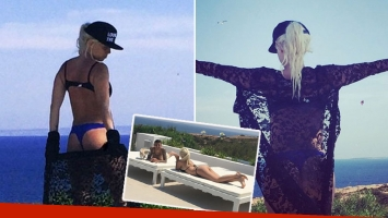 Wanda Nara, súper sexy en bikini en la paradisíaca Ibiza. (Foto: Instagram)
