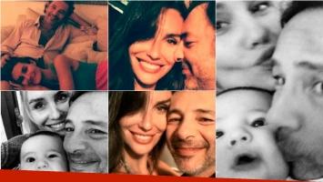 Fabián Vena y Paula Morales, felices junto a Valentino, de 5 meses. Foto: Twitter