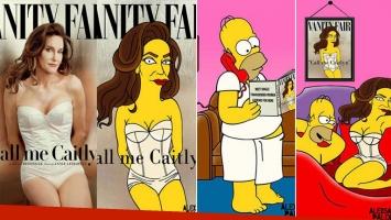 Caitlyn Jenner, simpsonizada por AleXsandro Palombo.