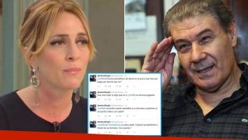 La fuerte acusación de Sandra Borghi a Víctor Hugo Morales en Twitter. Fotos: Web y Twitter.