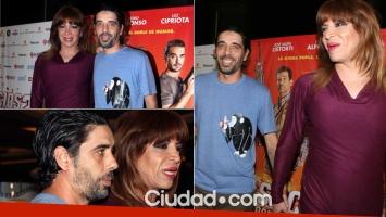 Lizy Tagliani fue al estreno de Pedro Alfonso y José María Listorti con su novio (Foto: Movilpress)