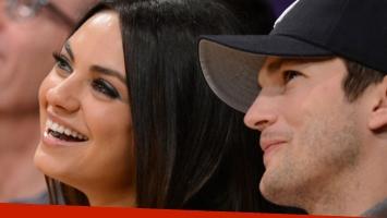 Se casaron Mila Kunis y Ashton Kutcher.