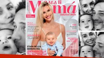 ¡Un bebote! Paula Morales y Valentino, amor incondicional de tapa. (Foto: Para Ti Mamá y Web)