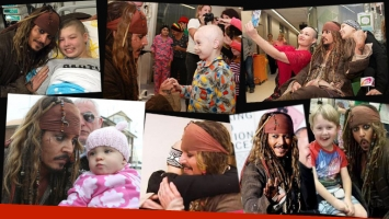 Johhny Depp visitó un hospital infantil vestido de Jack Sparrow. (Foto: Twitter)