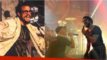 Daniel Osvaldo cantó con La Beriso en Flores. Foto: Twitter