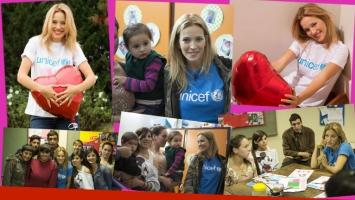 La primera aparición pública de Luisana Lopilato, embarazada de su segundo hijo. (Foto: Prensa Unicef)