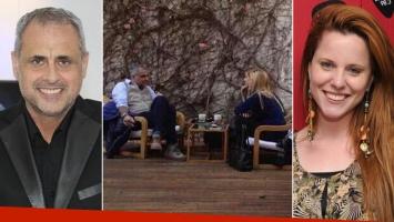Jorge Rial y Agustina Kämpfer, juntos en un café de Palermo. (Foto: Twitter)