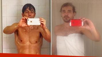 La divertida foto-parodia de Pedro Alfonso a la selfie hot de Mariano Martínez en la ducha. (Foto: Instagram)