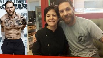 Las fotos de Tom Hardy en San Telmo que estallaron en las redes (Foto: Twitter)