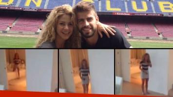 Shakira y una deliciosa escena de su vida conyugal. Fotos: Facebook y Web.