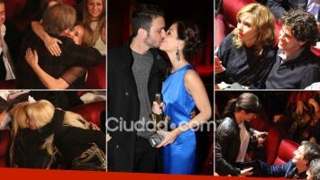 ¡Noche de mimos en la platea! Celebrities y parejitas en los premios ACE. (Foto: Movilpress)