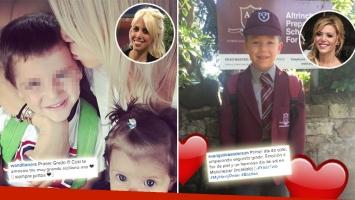 Los tiernos mensajes de Wanda y Evangelina en el primer día de clases de sus hijos. (Foto: Instagram)
