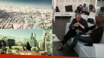 Jorge Rial y Agustina Kämpfer en Chile (Foto: Twitter e Instagram)