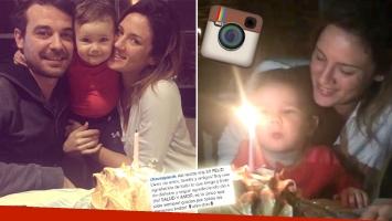El íntimo festejo de cumple de Paula Chaves junto a Pedro y Olivia. (Foto: Instagram)