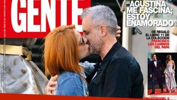 Jorge Rial y Agustina Kämpfer: 'besazo' de tapa. (Foto: revista Gente)