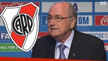 El blooper de Joseph Blatter en la presentación del Mundial de Clubes. (Foto: Web)