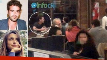 Nicolás Cabré, infraganti en una romántica cena a solas con una joven. (Foto: Web)