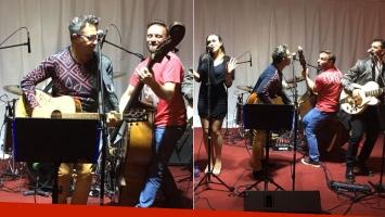 Sergio Lapegüe cantó con su banda en Miss San Isidro (Foto: gentileza Sergio Lapegüe)