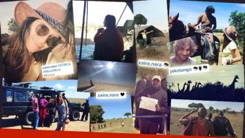 El álbum de Zaira Nara en un safari en el corazón de África. (Foto: Instagram)