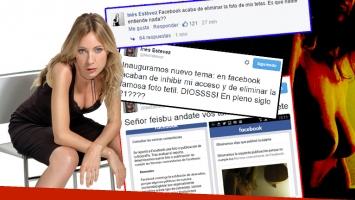 La publicación de Inés Estévez fue eliminada por Facebook (Foto: web y Facebook)