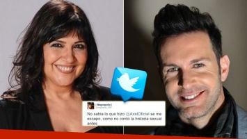 Elizabeth Vernaci le mandó un pícarto tweet a Axel (Foto: Web y Twitter)