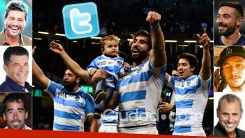 La locura mundialista de los famosos por el gran triunfo de Los Pumas: ¡Argentina en semifinales! (Foto: AFP y Web)